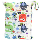 U Pick Wet Dry Bag Baby Cloth Diaper Nappy Bag Reusable With Two Zipper Pockets