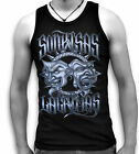 Theatre Dance Music Comedy Drama Tragedy Mens Sleeveless Muscle Top Vest S 2XL