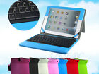 For Apple iPad 1/2/3/4 Leather Bluetooth Wireless Keyboard Case Cover With Stand