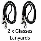 2 X NECK CORD LANYARD GLASSES STRAPS SPECTACLE HOLDER SPECTACLES & SUNGLASSES