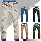Fashion Men Stylish Designed Straight Slim Fit Trousers Casual Long Pants 7 Size