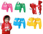 Boys Girls Kid Top & Pants Cotton Set, Angel Wing & Hoods Yellow Pink Red 6M-5T