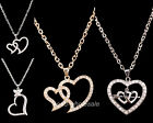 1pc Charm Women Most Popular Costume Jewelry Crystal Heart Pendant Necklace