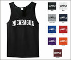 Country of Nicaragua College Letter Tank Top Jersey T-shirt