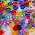 200 Transparent Acrylic HEART Beads 8mm (14 Colour Options)