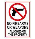 No Weapons Or Firearms Vinyl Decal / Sticker / Label Generic Compliance Gun Sign