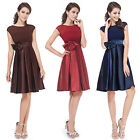 Ever Pretty New 2014 Black Satin Womens Cocktail Party Casual Summer Dress 06113