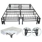 "14"" Metal Platform Bed Frame with Headboard/Footboard & Bed Skirt"