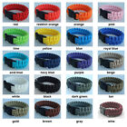 "22cm Survival 550 Paracord Bracelets with 5/8"" Webbing Plastic Curved Buckle SLD"