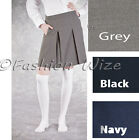 Girls School Pleated Skirt Grey Black Navy Ages 4 5 6 7 8 9 10 11 12 13 14 15 16