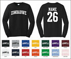 Country of Zimbabwe Custom Personalized Name & Number Long Sleeve T-shirt