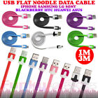 Flat Noodle Ribbon Micro USB Data Sync Cable Lead Charger for Huawei