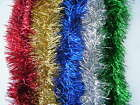 1 x 2m Quality Christmas Tinsel Garland Blue, Green, Red, Gold & Silver