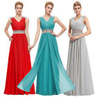 FREE SHIP PLUS Long Evening Formal Bridesmaid Wedding Ball Gown Prom Party Dress