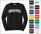 Country of Dominican Republic College Letter Long Sleeve Jersey T-shirt