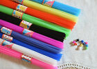 0.6 x 37cm 30~35pcs solid color origami lucky star folding straw   CHOOSE COLOR