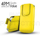 Button Premium PU Leather Pull Tab Pouch Case Cover For Various Motorola Mobiles