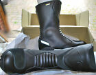 MENS BLYTZ ROMA LEATHER MOTORCYCLE RACE ROAD WATERPROOF BOOTS  IN BLACK