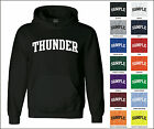 Thunder College Letter Team Name Jersey Hooded Sweatshirt