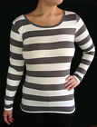 LADIES LIGHTWEIGHT CASUAL  KNITS BOAT NECK L/S TOP 2 COL0URS 10-18
