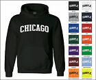 City of Chicago College Letter Adult Jersey Hooded Sweatshirt