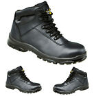 MENS SAFETY WORK BOOTS COMPOSITE TOE CAP LEATHER NON METAL SHOES LACE UP TRAINER