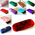 ORIENTAL / CHINESE style SILK GLASSES CASE - Hard Case or Soft Case