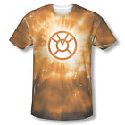 Green Lantern Orange Energy Ring Corp Sublimation ALL OVER Vintage T-shirt top