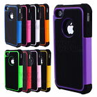 Hybrid Rugged Rubber Heavy Duty Matte Hard Case Cover For iPhone 4 4s 10 Colors