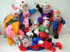 Vintage Style Bendable Circus Clown Doll Ceramic Porcelain Hands Feet & Face