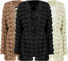 G97 NEW WOMEN SHAGGY FUR BELTED LADIES JACKET TASSEL STYLE COAT IN PLUS SIZES