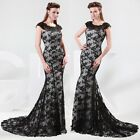 GK Luxury Lace Women's Formal Evening Party Ball Bridesmaid Prom Gown Long Dress