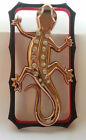 3D Diamond Wall Gecko Bumber Case For iphon 4 / 4S Gold