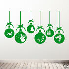 CHRISTMAS TRANSFERS & STICKERS VINYL CONCEPT DECALS WALL OR WINDOW XMAS WALL 01