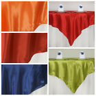 """6 Pack 72"""" Square SATIN Table OVERLAYS Wedding Table Linens Decorations SALE"""