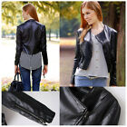 New Hot Winter Women Coat The Short Paragraph Zipper Motorcycle Leather Jacket