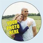 Personalised Circle Photo Stickers. 4 sizes. Add your own photograph