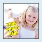 Personalised Square Photo Stickers. 2 sizes. Add your own photograph