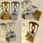 100 Chair W/ Ribbon Mini Heart Wedding Party Baby Shower Favors Gift Candy Boxes
