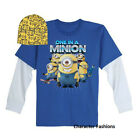 DESPICABLE ME 2 Size 4 5 6 7 8 10 12 Shirt Top Tee Hat Beanie MINION Long Sleeve