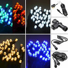 100 LED Connectable String Lights Christmas Power Cord Extension Cables Outdoors
