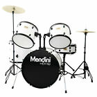 Mendini 5-Piece Full Size Complete Drum Set ~ Black Blue Red Green Silver White