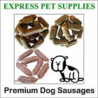 Premium Gourmet Dried Dog Sausages Bangers Quality Treat Chew Chicken Liver Beef