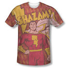 Official Shazam Lightning Bolts DC Comics ALL OVER FRONT Sublimation T-shirt Top