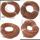 100mround genuinereal Naturalleather cords jewelry findings making FREE P P