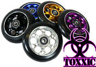 Toxxic Swiss Stunt Scooter Wheel - Drilled Alloy w/bearings and spacer! 100MM
