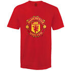 Manchester United FC Official Football Gift Mens Crest T-Shirt (RRP £14.99!)