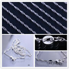 5pcs 925 Sterling Silver Italy Bead Snake Curb Link Chain Lobster Clasp Necklace
