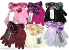 GIRLS CHILDRENS WINTER WARM COSY SOFT FEATHER TOUCH GLOVES WITH CUFF