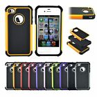 Luxury Hybrid Impact Tough Dual layer Premium Hard Case for Apple iPhone 4G 4S